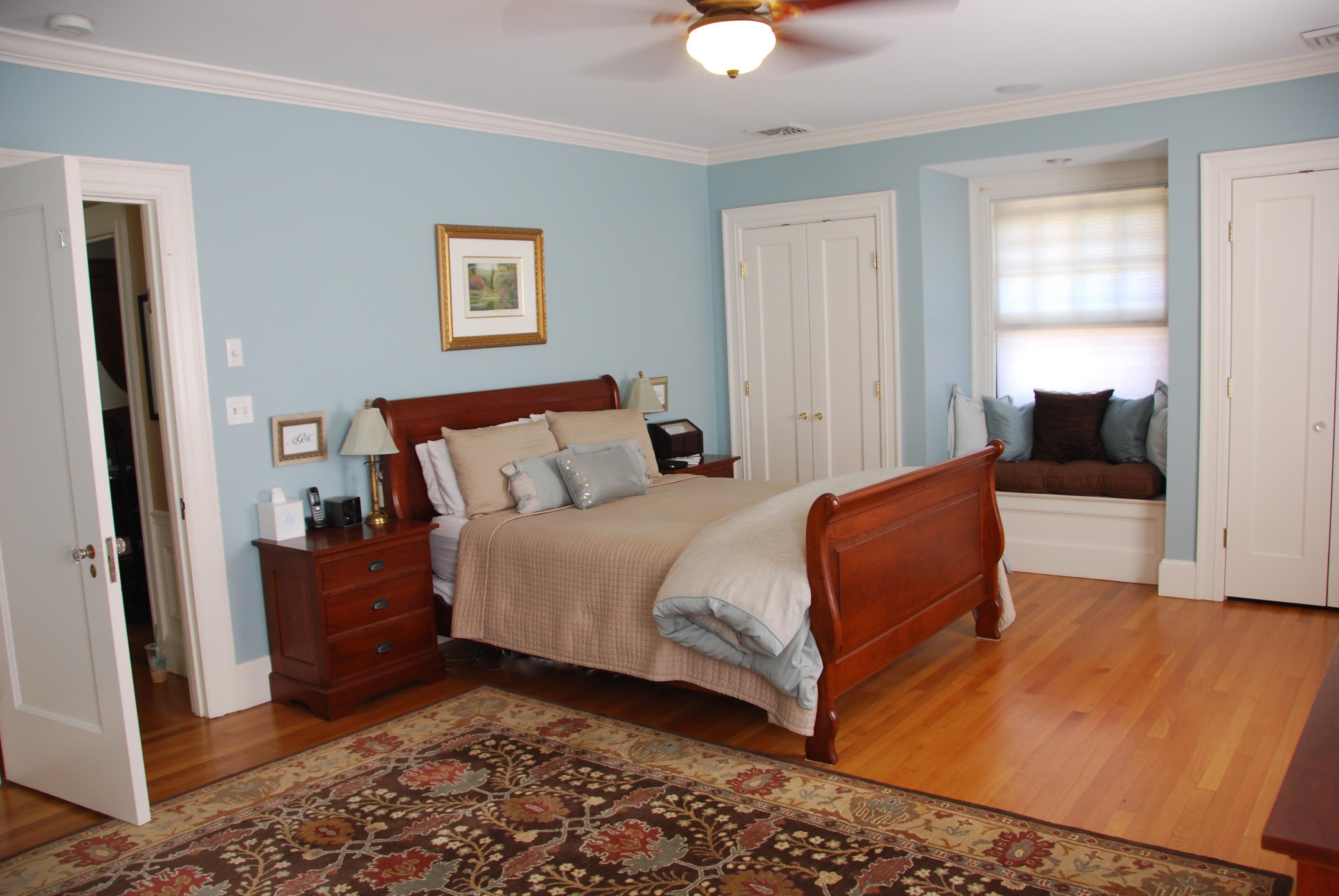 The master bedroom tour felt so cute - Benjamin moore wedgewood gray living room ...