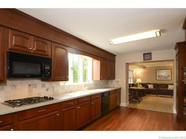 Spacious kitchen opens to large family room