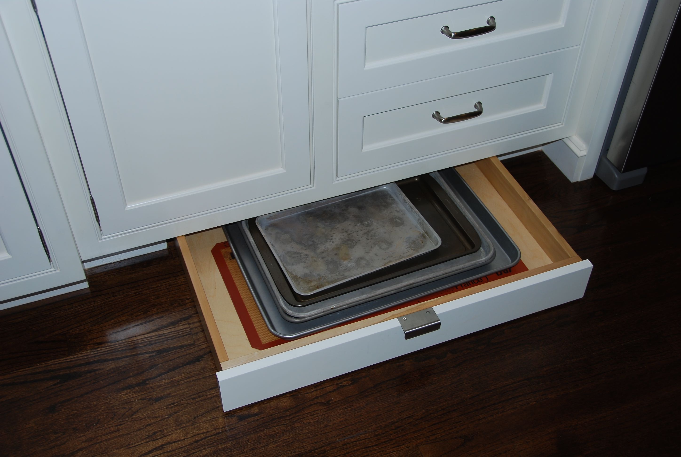 Toe Kick Drawer. Pots And Pans Organizer Discreet And Effective With ...